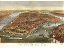 mappa panoramica di New York, pubblicata nel 1870 da Currier & Ives (via Library of Congress Geography and Map Division)