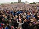 27 giugno 2016: migliaia di isalndesi accolgono a Reykjavik i calciatori della Nazionale di calcio di ritorno dagli Europei di Francia