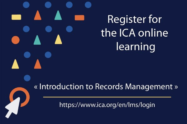"""corso online """"Introduction to Records Management"""""""