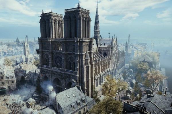 La riproduzione di Notre Dame nel videogame Assassin's Creed Unity
