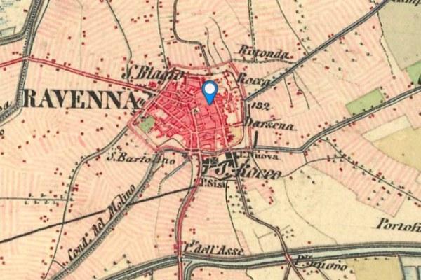 La mappa di Ravenna nell'800