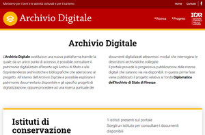 Archivi di Stato e Soprintendenze: online il portale Archivio Digitale