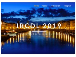 Call for papers: 15th Italian Research Conference on Digital Libraries (IRCDL)