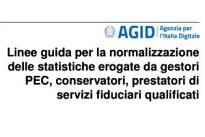 Normalizzazione dei dati statistici: le Linee guida