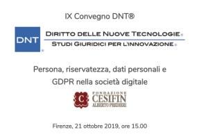 Persona, riservatezza, dati personali e GDPR nella società digitale